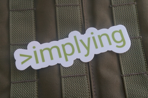 >implying (Sticker)