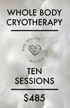 Cryotherapy - Ten Sessions