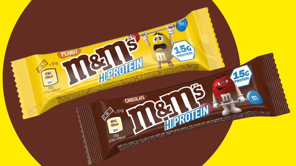 M&M'S HIGH PROTEIN BARS NEW