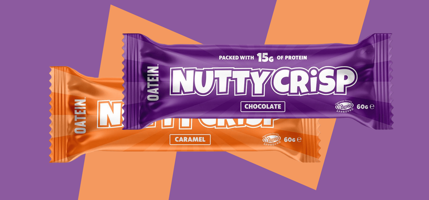 Nutty Crisp Vegan Protein Bars by Oatein - Caramel and Chocolate