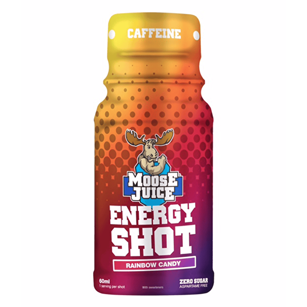 Muscle Moose Energy Shot Rainbow Candy - Protein Package