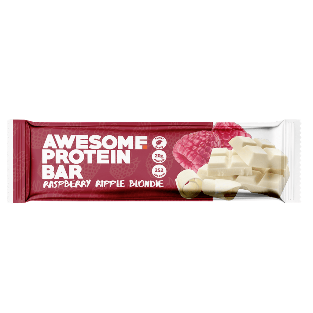 Awesome Supplements Vegan Protein Bar Raspberry Ripple Blondie