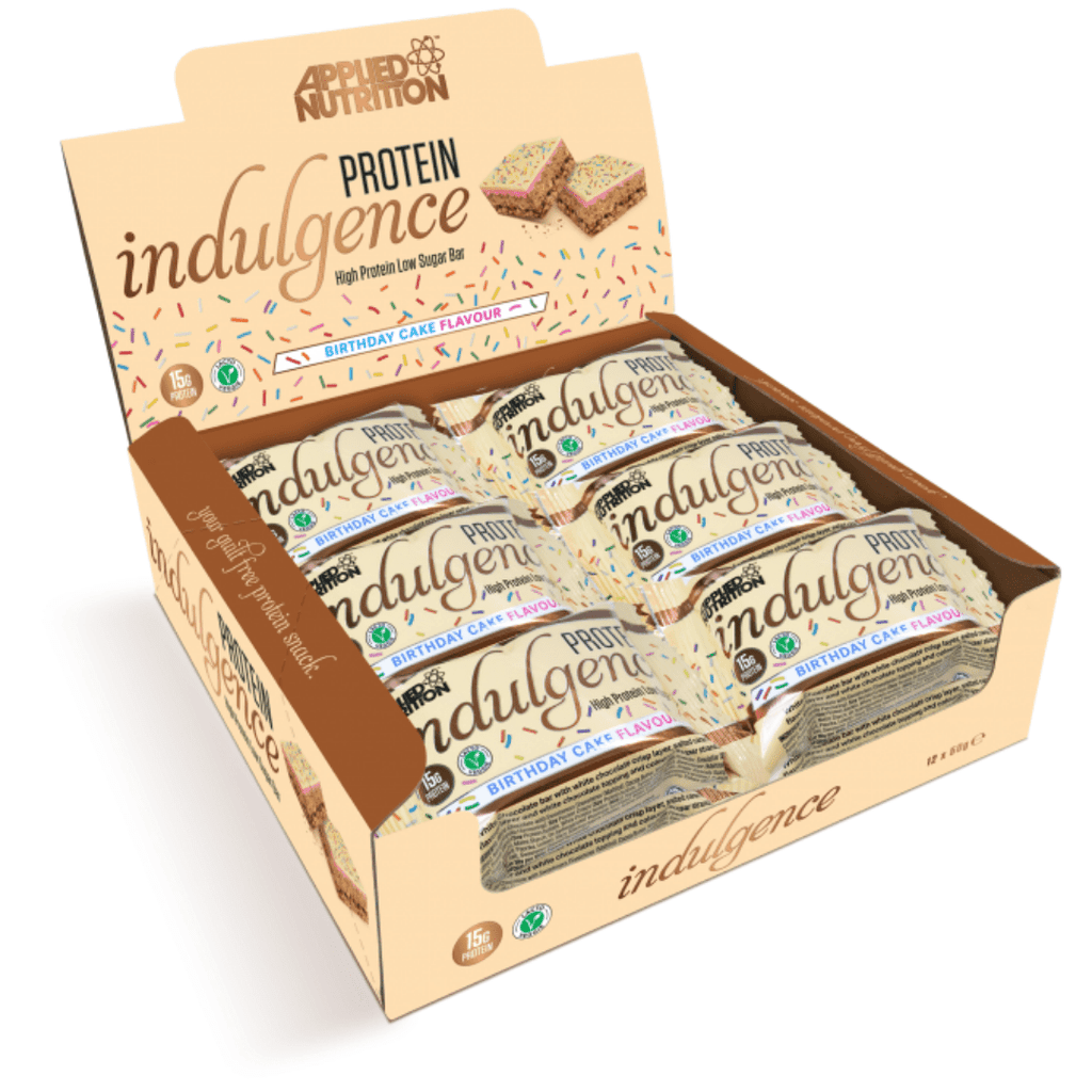 Applied Nutrition Protein Indulgence Bar Birthday Cake - Protein Package