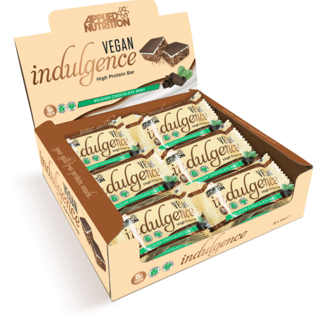 Applied Nutrition Vegan Indulgence Bar Belgian Chocolate Mint, Protein Bars, Applied Nutrition, Protein Package Protein Package Pick and Mix Protein UK