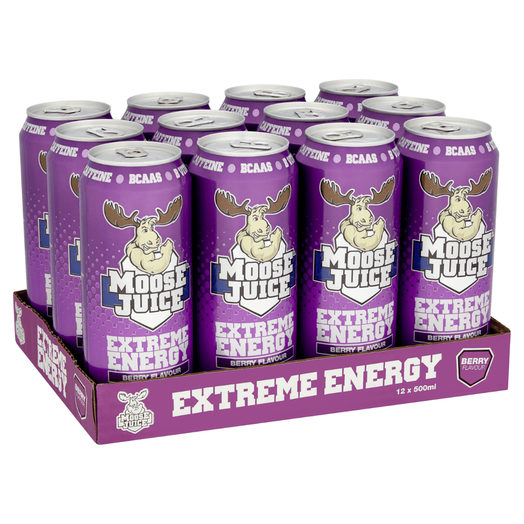 Muscle Moose Moose Juice Energy Drink Box (12 Cans), Energy Drinks, Muscle Moose, Protein Package Protein Package Pick and Mix Protein UK