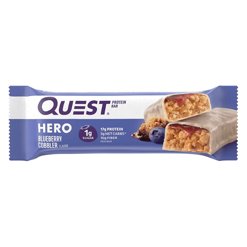 Quest Nutrition USA Hero Protein Bar Blueberry Cobbler, Protein Bars, Quest Nutrition, Protein Package Protein Package Pick and Mix Protein UK