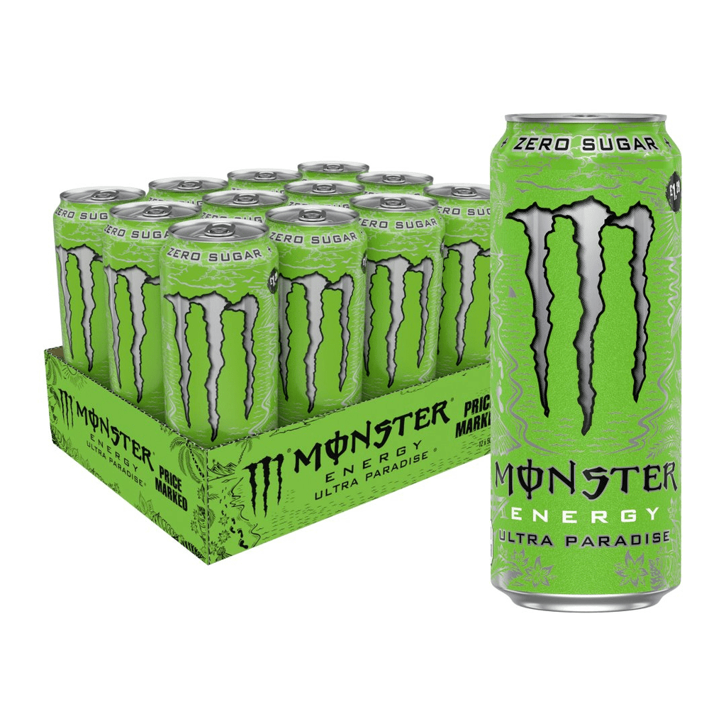 Monster Energy Ultra Energy Drink Box (12 Cans), Energy Drinks, Monster Energy, Protein Package Protein Package Pick and Mix Protein UK