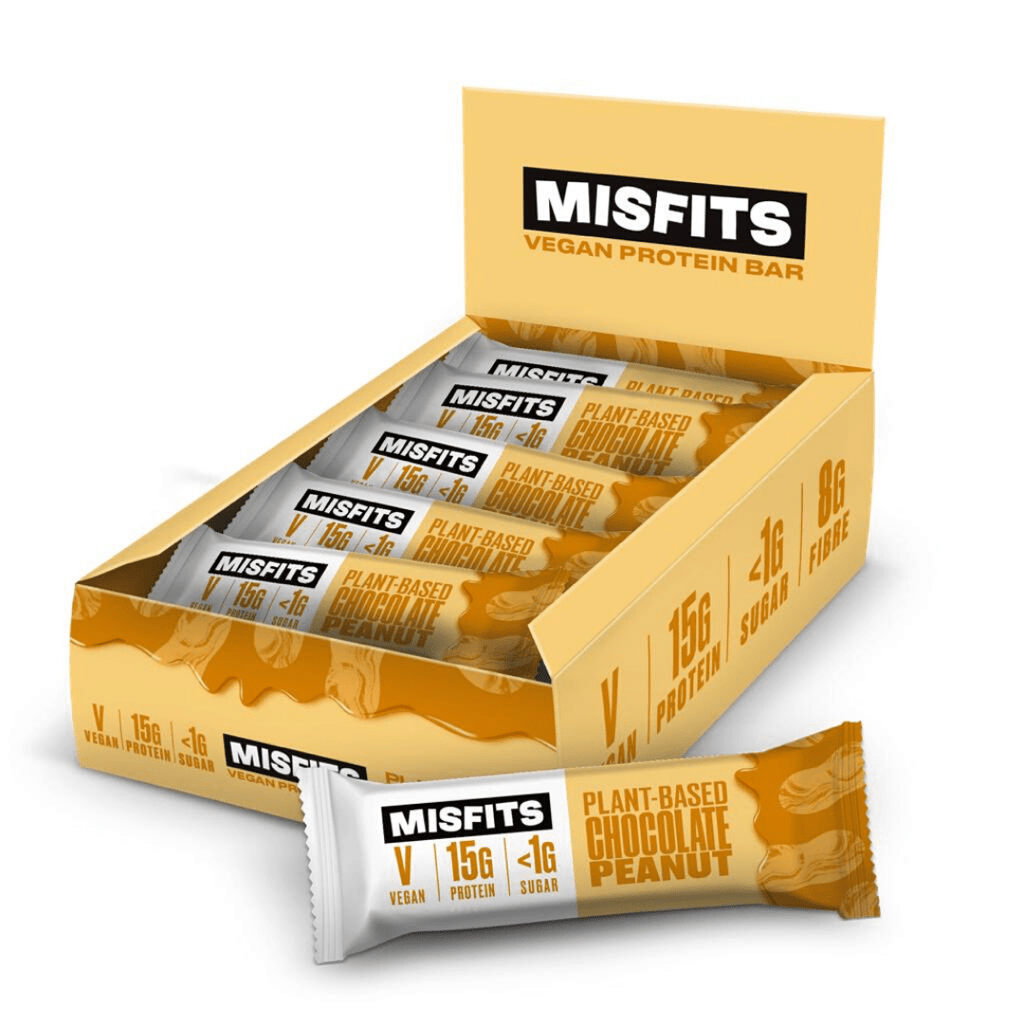 Misfits Vegan Protein Bar Box (12 Bars), Protein Bars, Misfits Health, Protein Package Protein Package Pick and Mix Protein UK