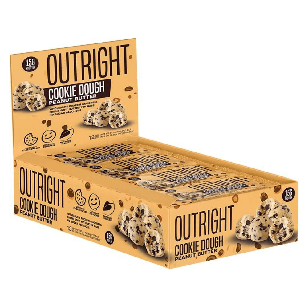MTS Nutrition Cookie Dough Peanut Butter Protein Bars Boxes of 12