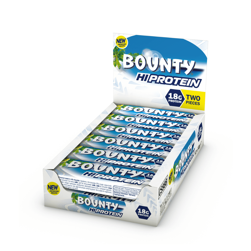 Boxes of 12 Bounty HiProtein New & Improved - Protein Package UK - 12 x 52g