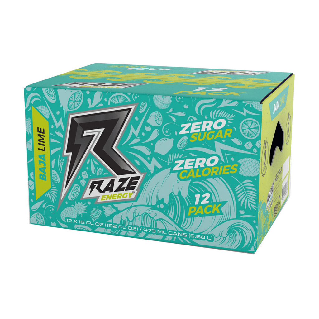 RAZE Energy Drink Box (12 Cans), Energy Drinks, Raze Energy, Protein Package Protein Package Pick and Mix Protein UK