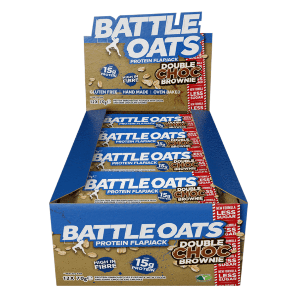 Battle Oats Protein Flapjack Double Chocolate Brownie, Protein Flapjacks, Battle Snacks, Protein Package Protein Package Pick and Mix Protein UK