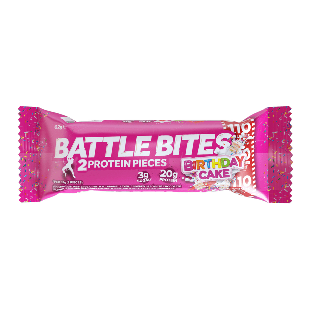 Battle Snacks Protein Bites Birthday Cake Bar Package