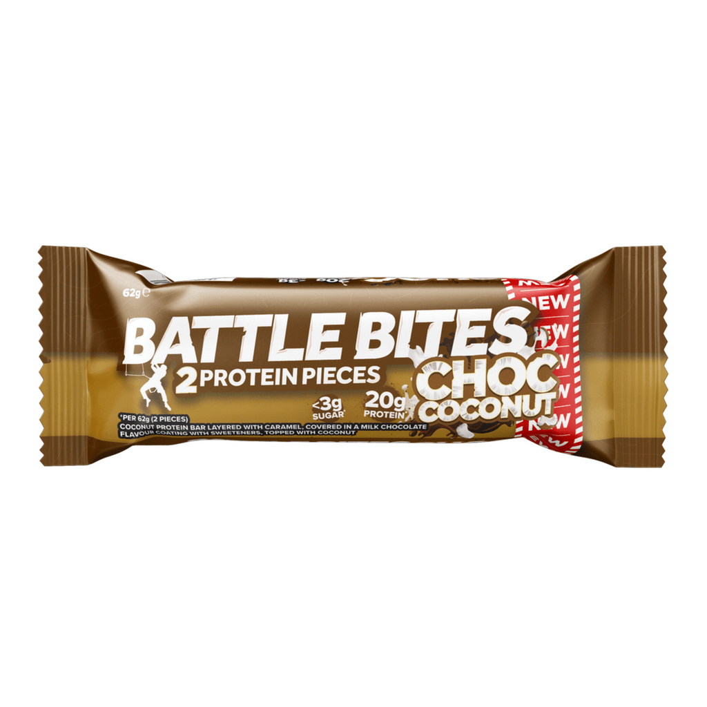 Battle Snacks Protein Battle Bites Chocolate Coconut, Protein Bars, Battle Snacks, Protein Package, Pick and Mix Protein UK