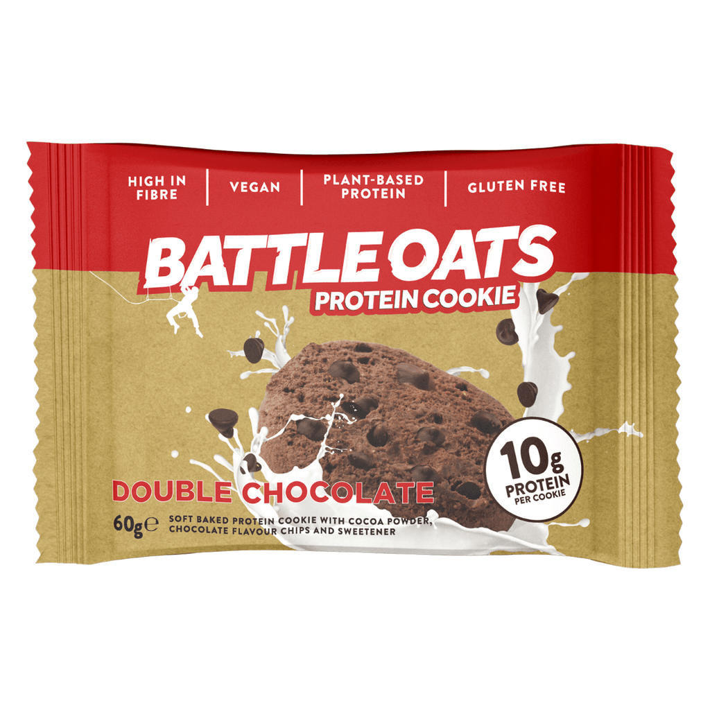 Battle Oats Protein Cookie Double Chocolate, Protein Cookies, Battle Snacks, Protein Package Protein Package Pick and Mix Protein UK