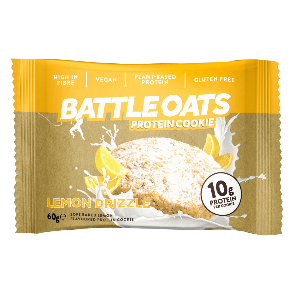 Battle Oats Protein Cookie Lemon Drizzle, Protein Cookie, Battle Snacks, Protein Package Protein Package Pick and Mix Protein UK
