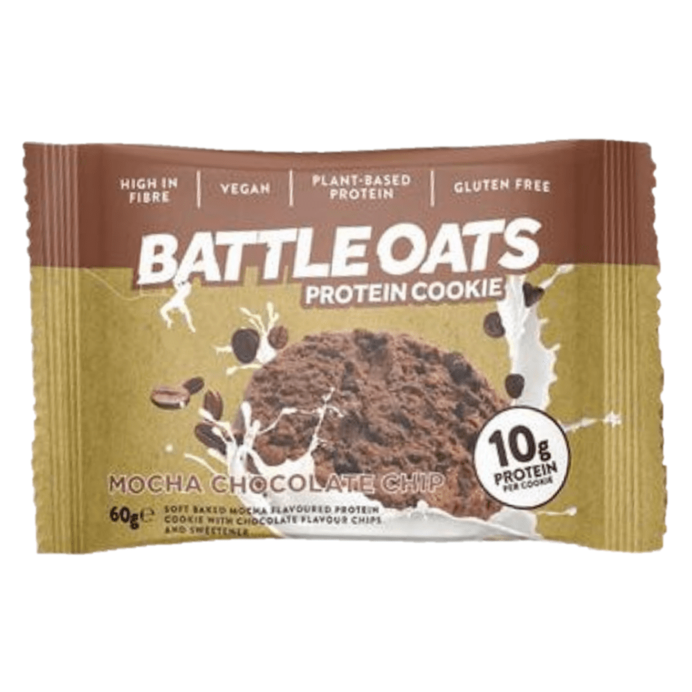 Battle Oats Protein Cookie Mocha Chocolate Chip, Protein Cookies, Battle Snacks, Protein Package Protein Package Pick and Mix Protein UK