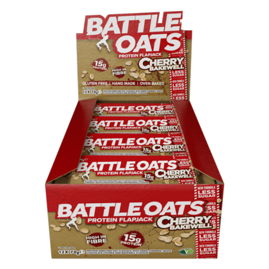 Battle Oats Protein Flapjack Cherry Bakewell, Protein Flapjacks, Battle Snacks, Protein Package Protein Package Pick and Mix Protein UK