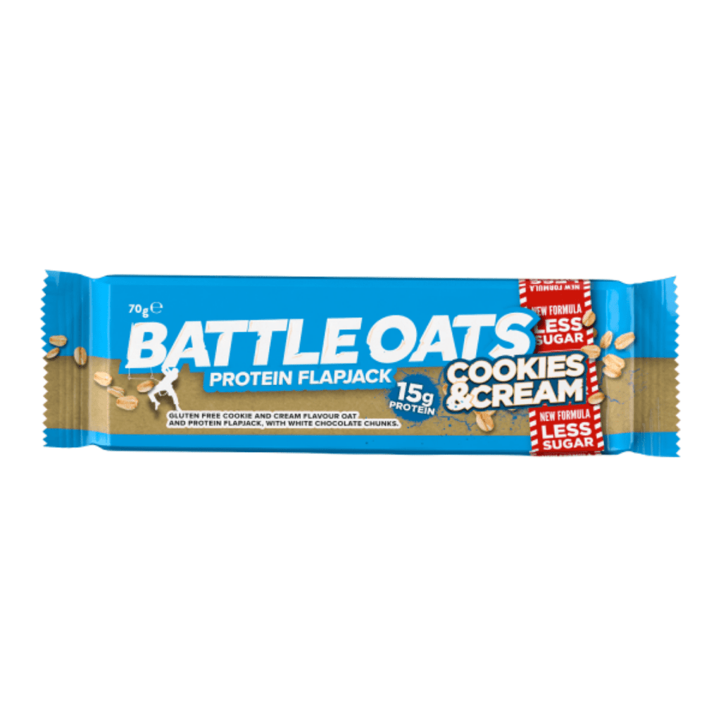 Battle Oats Protein Flapjack Cookies & Cream, Protein Flapjacks, Battle Snacks, Protein Package, Pick and Mix Protein UK