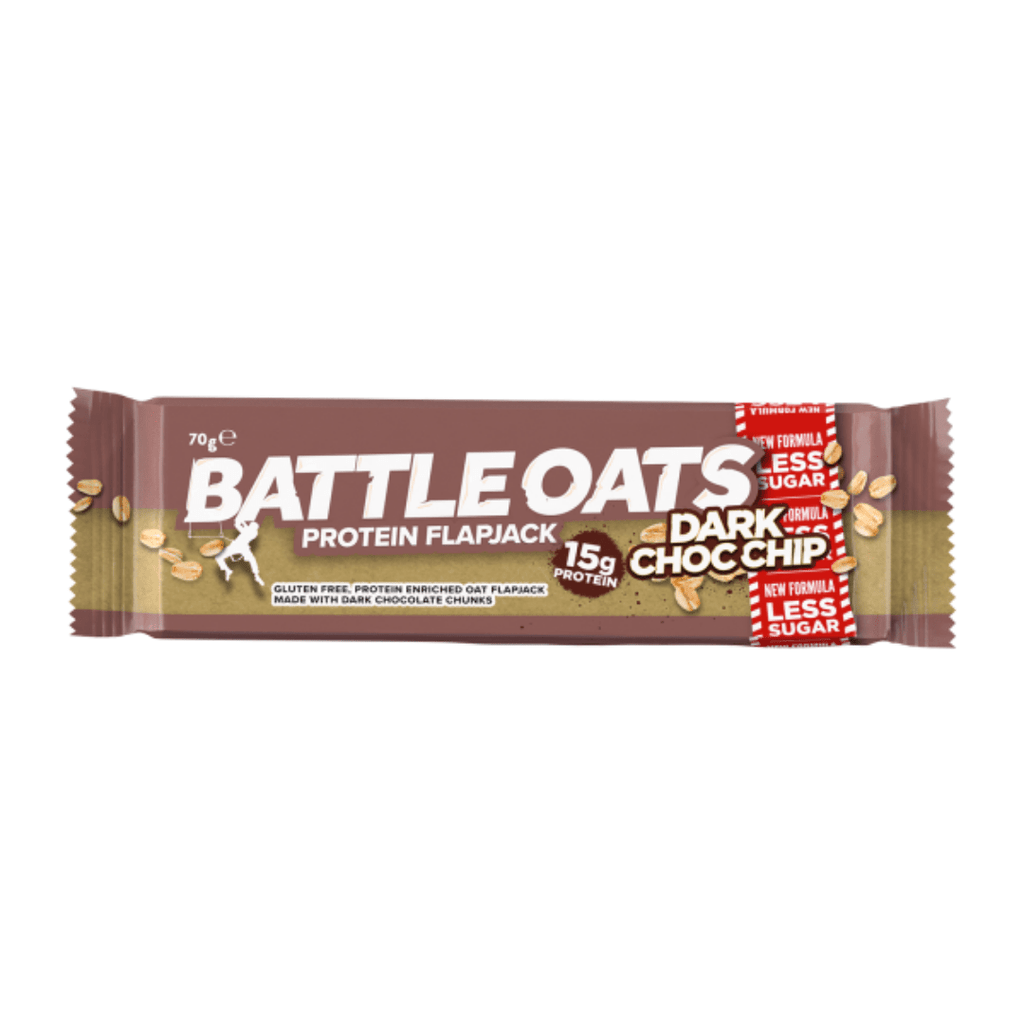Battle Oats Protein Flapjack Dark Chocolate Chip, Protein Flapjacks, Battle Snacks, Protein Package Protein Package Pick and Mix Protein UK