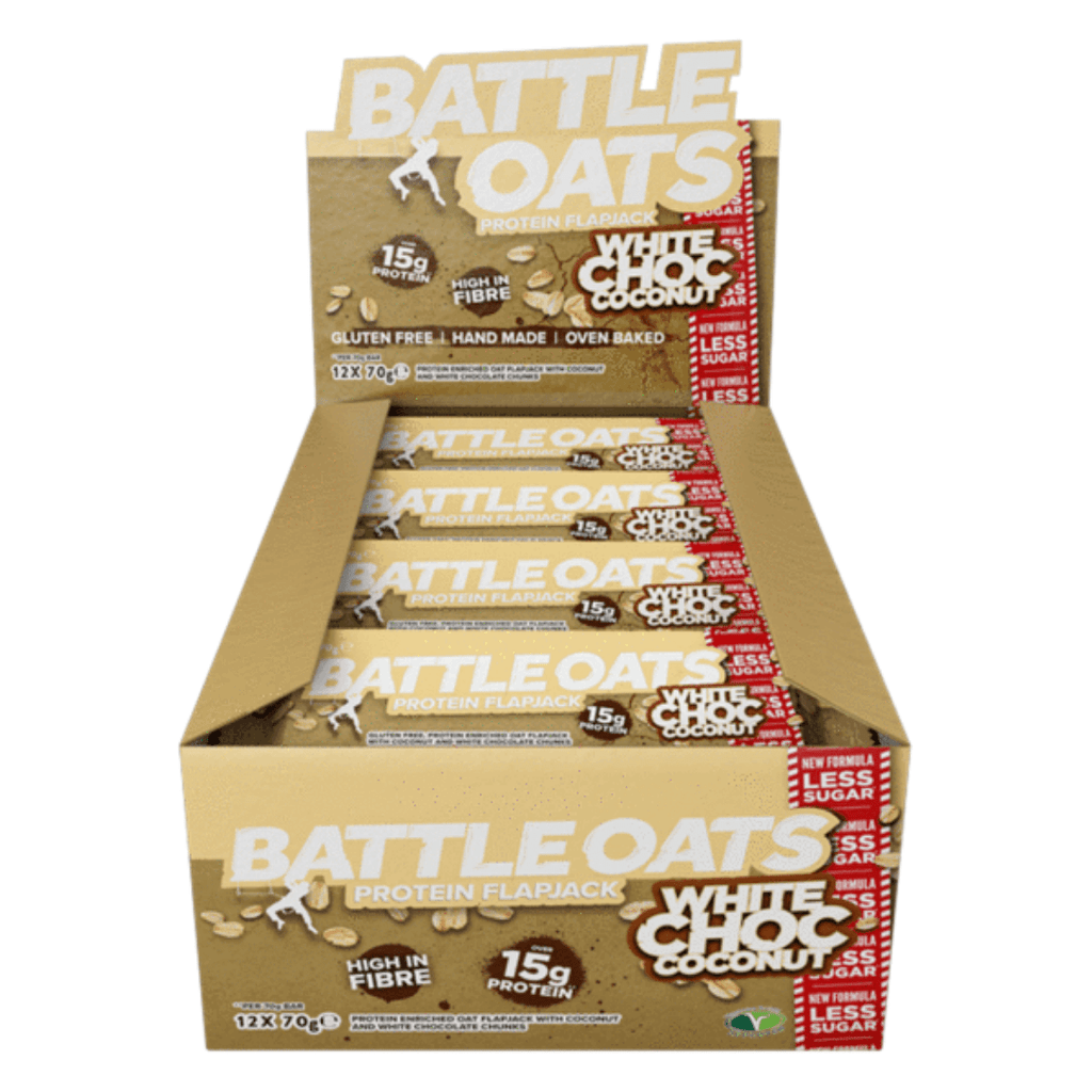 Battle Oats Protein Flapjack White Chocolate & Coconut - Protein Package
