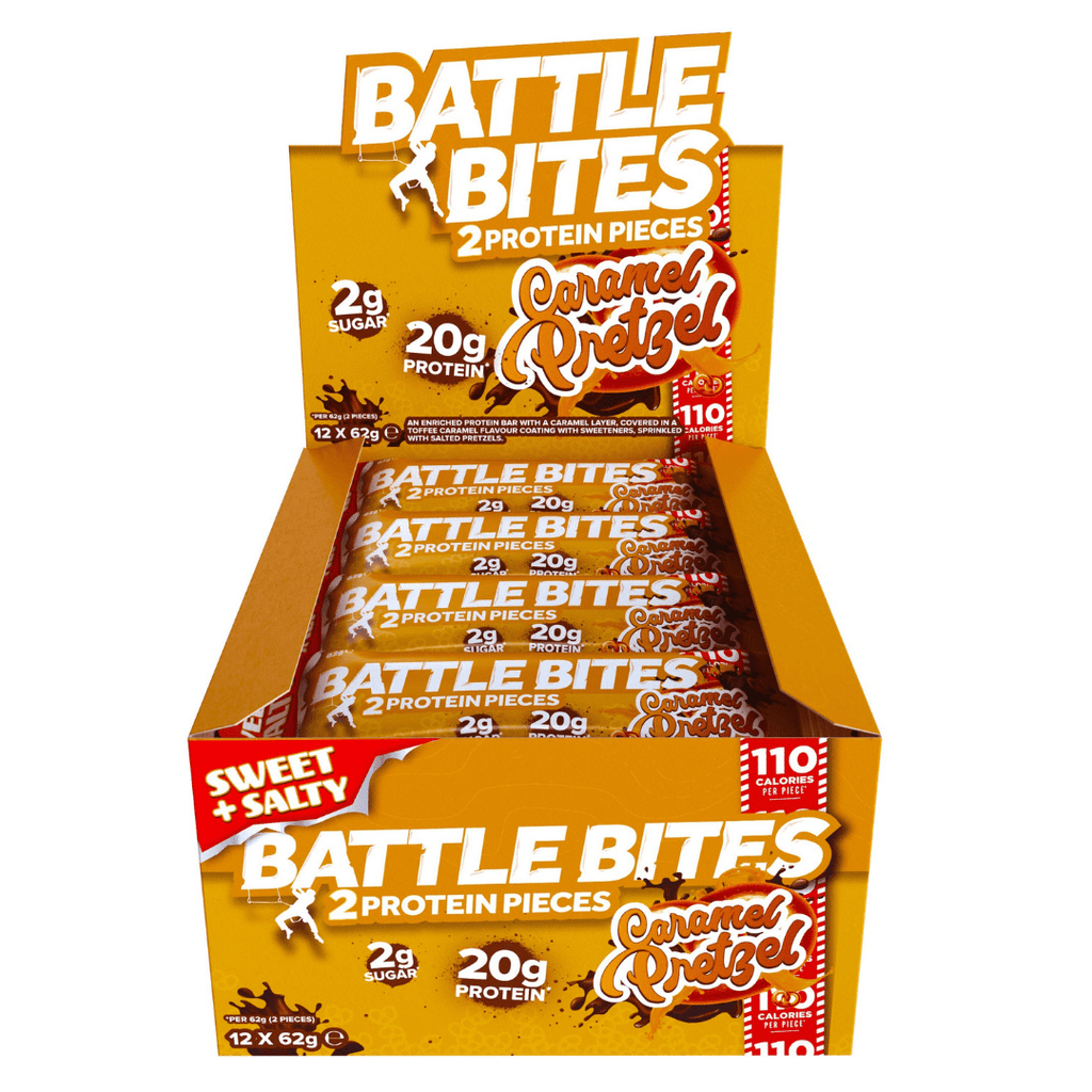 Battle Snacks Protein Battle Bites Caramel Pretzel, Protein Bar, Battle Snacks, Protein Package Protein Package Pick and Mix Protein UK