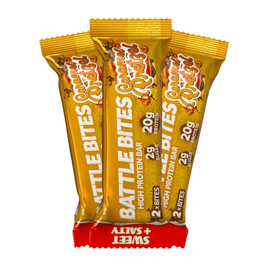 Battle Snacks Protein Battle Bites Caramel Pretzel, Protein Bars, Battle Snacks, Protein Package, Pick and Mix Protein UK