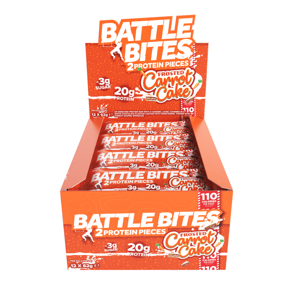 Battle Snacks Protein Battle Bites Carrot Cake, Protein Bars, Battle Snacks, Protein Package Protein Package Pick and Mix Protein UK