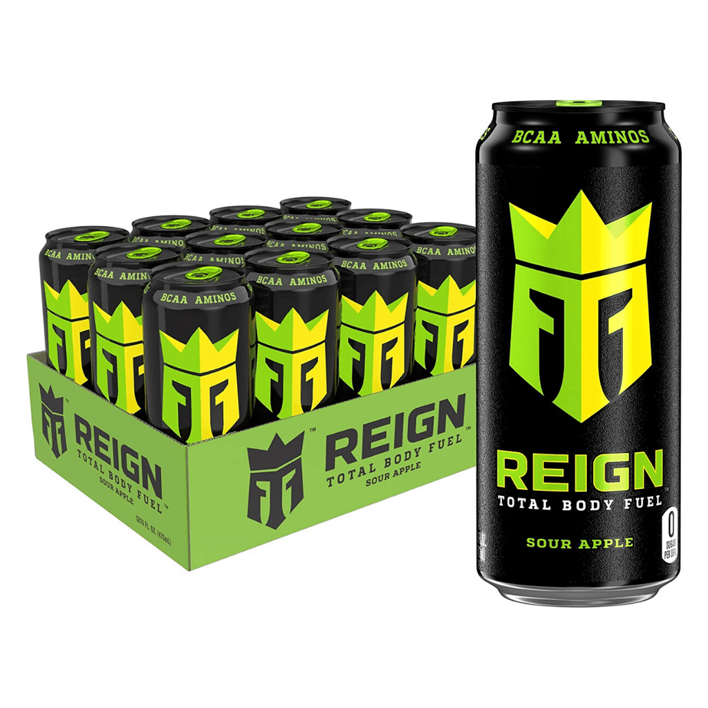 REIGN Total Body Fuel Energy Drink Box (12 Cans), Energy Drinks, REIGN, Protein Package Protein Package Pick and Mix Protein UK