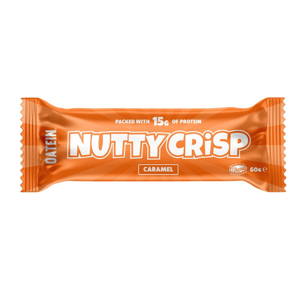 Salted Caramel Flavoured Nutty Crisp Vegan Protein Bars by Oatein UK - Mix & Match Oatein Products
