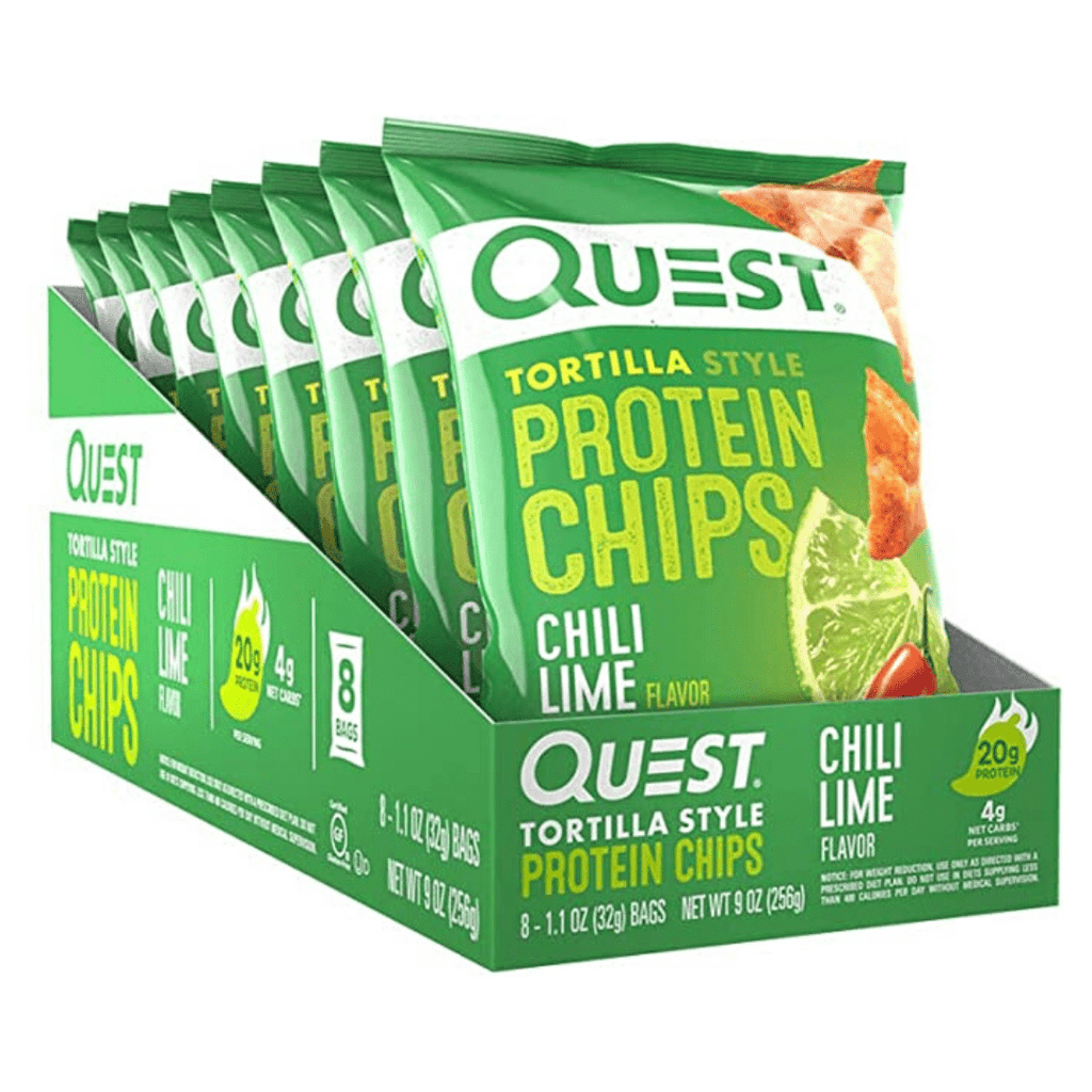 Quest Nutrition USA Protein Tortilla Chips Box (8 Packets), Protein Crisps, Quest Nutrition, Protein Package Protein Package Pick and Mix Protein UK