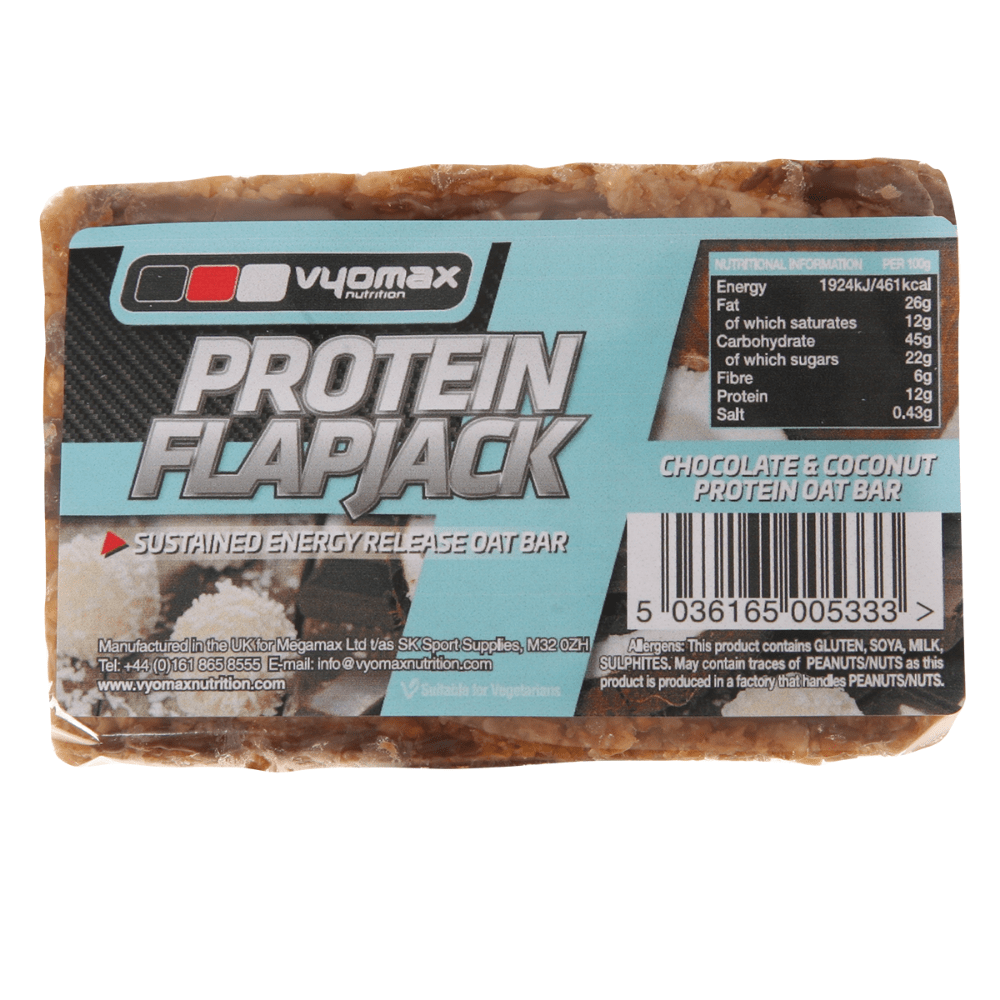 Vyomax Nutrition Protein Flapjack Box (12 Flapjacks), Protein Flapjacks, Vyomax Nutrition, Protein Package Protein Package Pick and Mix Protein UK