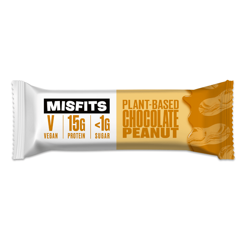 Misfits Vegan Protein Bar Chocolate Peanut, Protein Bars, Misfits Health, Protein Package Protein Package Pick and Mix Protein UK