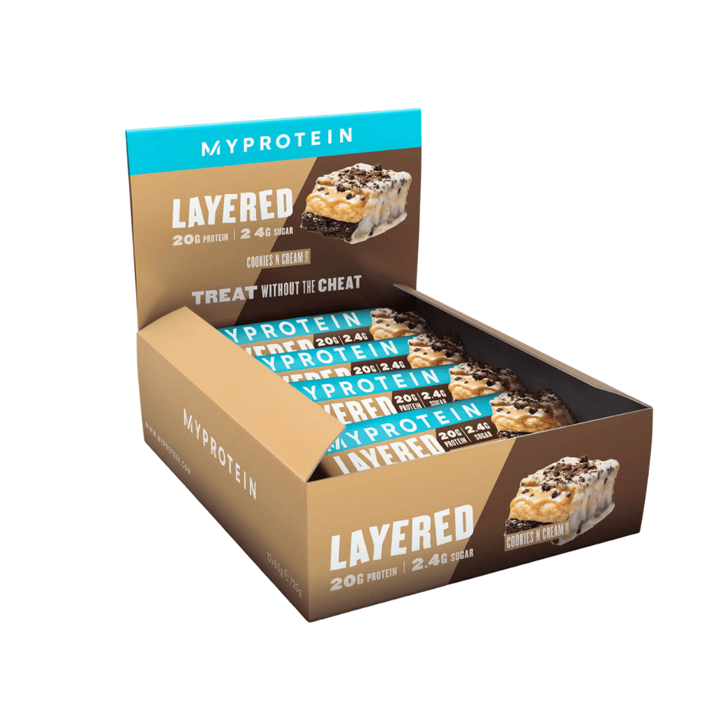 MyProtein 6 Layer Protein Bar Cookies & Cream - Protein Package