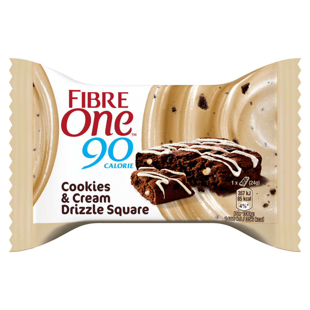 Cookies & Cream Single Square FIbre One 90 Calorie Bars UK Pick & Mix