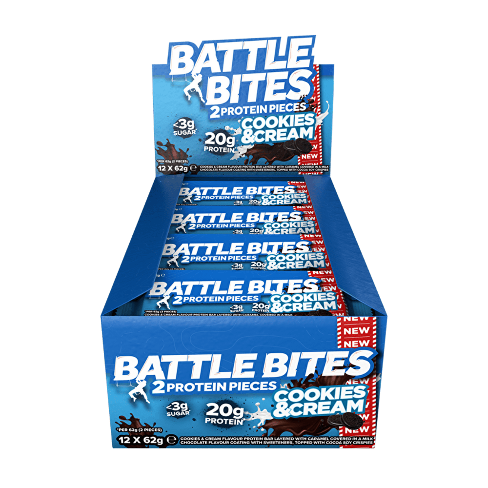 Battle Snacks Protein Battle Bites Cookies & Cream, Protein Bars, Battle Snacks, Protein Package, Pick and Mix Protein UK