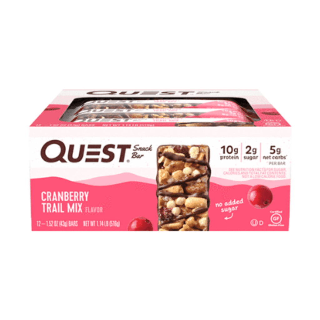 Quest Nutrition USA Protein Snack Bar Cranberry Trail Mix, Protein Bars, Quest Nutrition, Protein Package Protein Package Pick and Mix Protein UK
