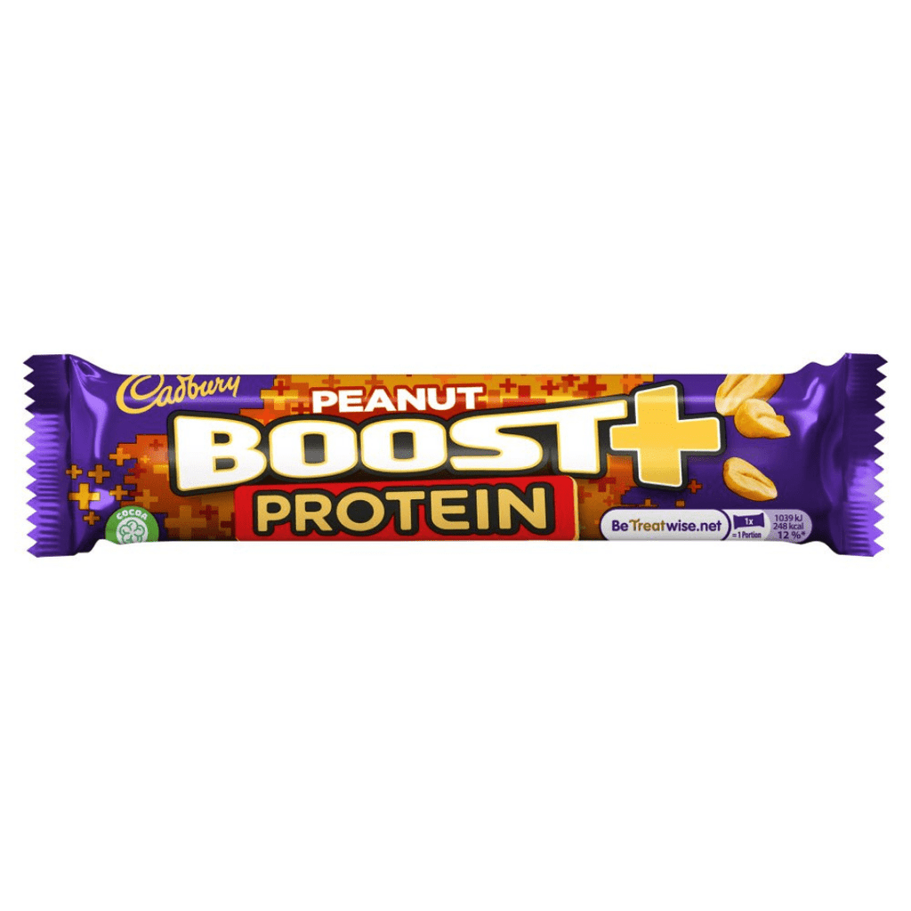 Cadbury Boost Peanut Plus Protein Bar, Protein Bars, Cadbury Boost, Protein Package Protein Package Pick and Mix Protein UK