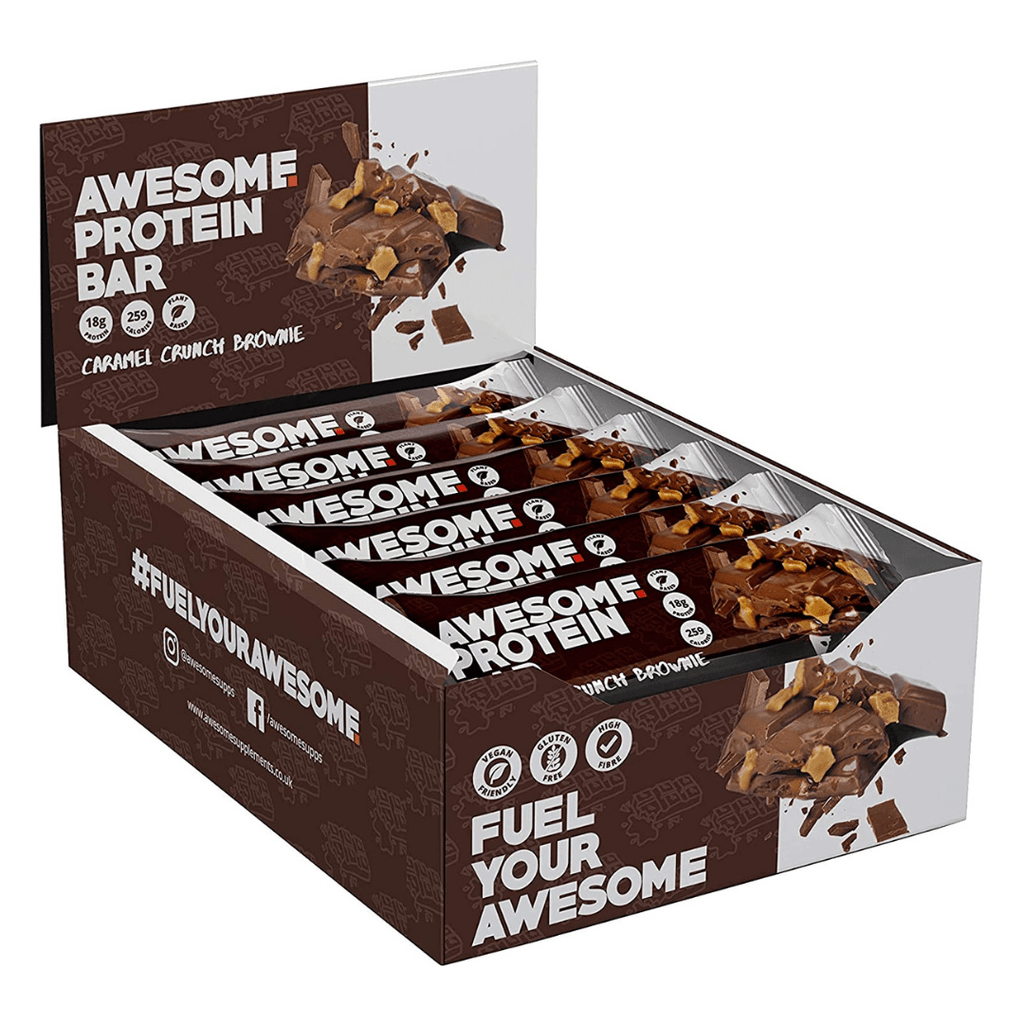 Awesome Supplements Vegan Protein Bar Caramel Crunch Brownie