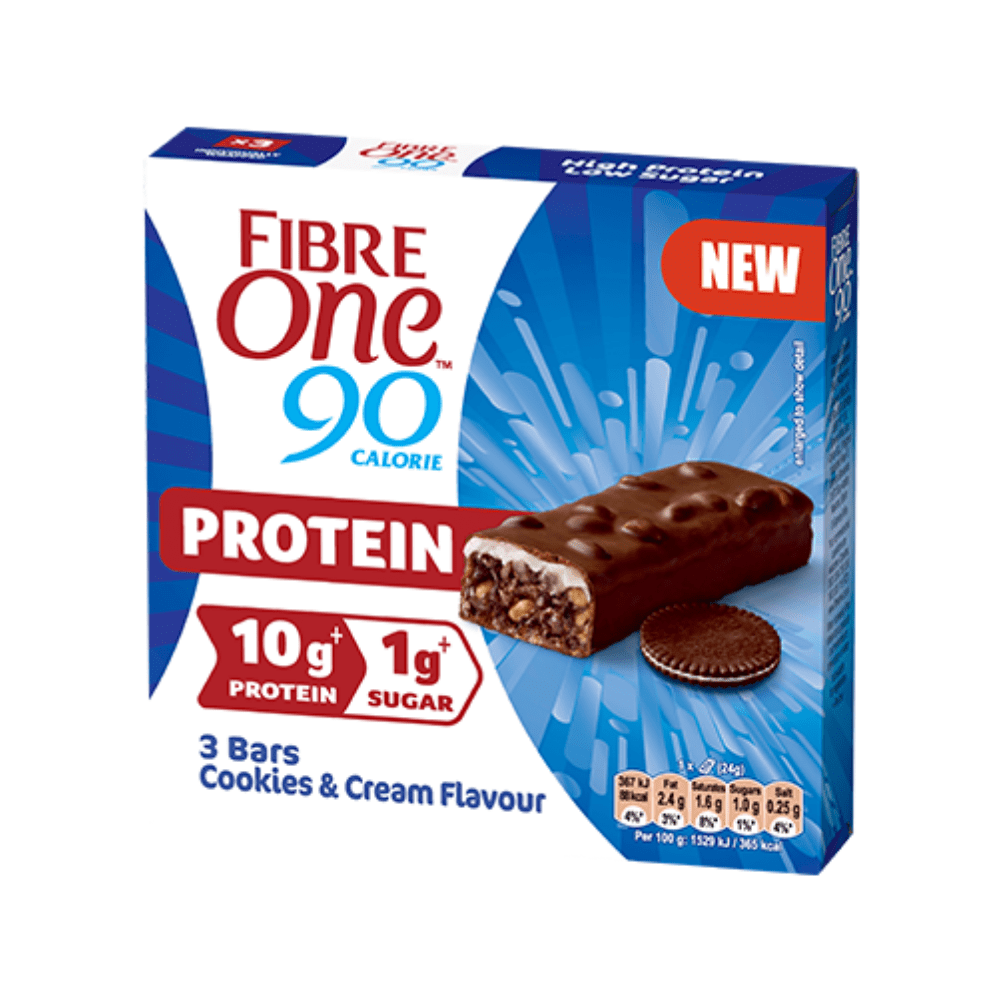 Fibre One Cookies and Cream Protein Bars