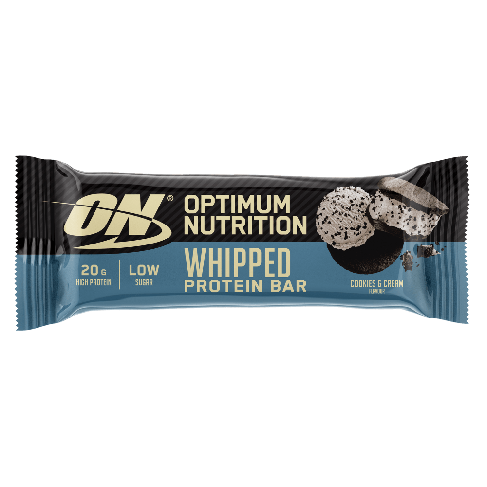 Cookies and Cream Optimum Nutrition High Protein Whipped Bars - 62g Single Bars UK
