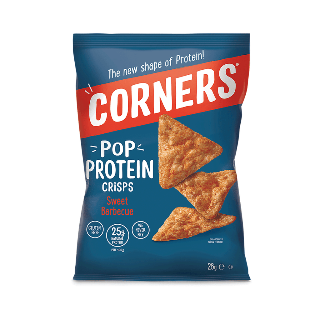 Corners Pop Protein Crisps BBQ, Protein Crisps, Corners, Protein Package Protein Package Pick and Mix Protein UK