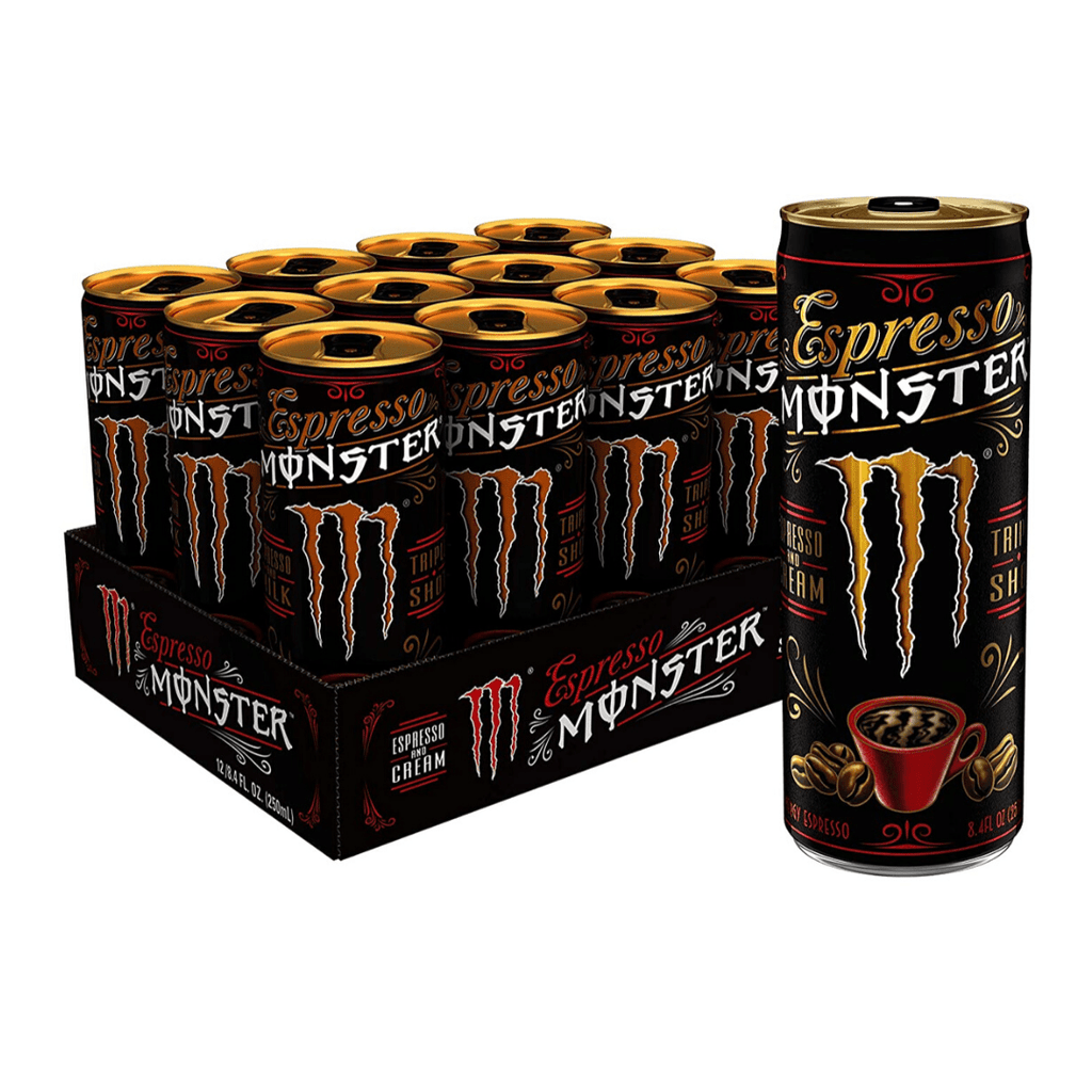 Monster Energy Espresso Coffee Box (12 Cans), Energy Drinks, Monster Energy, Protein Package Protein Package Pick and Mix Protein UK