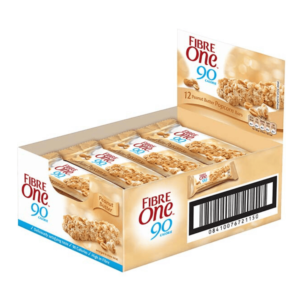 Fibre One Low Calorie Bar Peanut Butter Popcorn, Protein Bars, Fibre One, Protein Package Protein Package Pick and Mix Protein UK