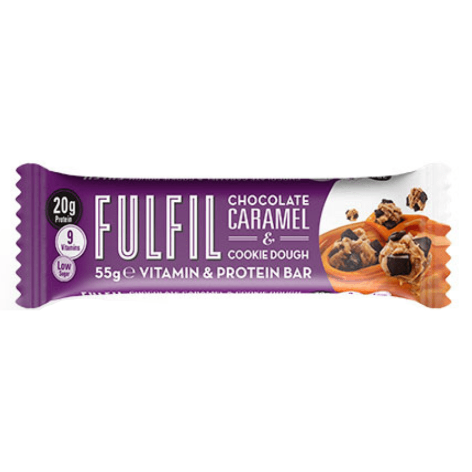 Fulfil Nutrition Vitamin & Protein Bar Chocolate Caramel Cookie Dough, Protein Bars, Fulfil Nutrition, Protein Package, Pick and Mix Protein UK
