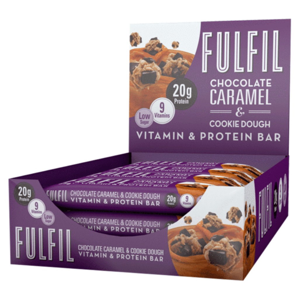 Fulfil Nutrition Vitamin & Protein Bar Chocolate Caramel Cookie Dough - Protein Package