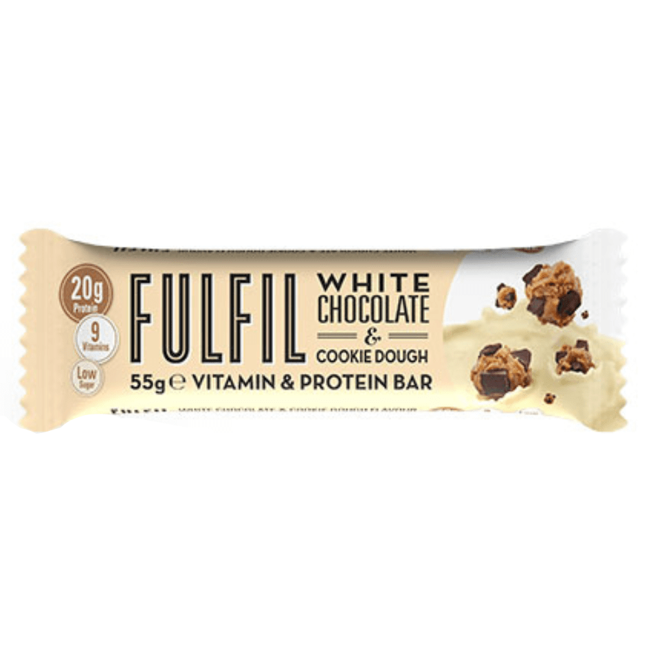 Fulfil Nutrition Vitamin & Protein Bar White Chocolate Cookie Dough, Protein Bar, Fulfil, Protein Package Protein Package Pick and Mix Protein UK
