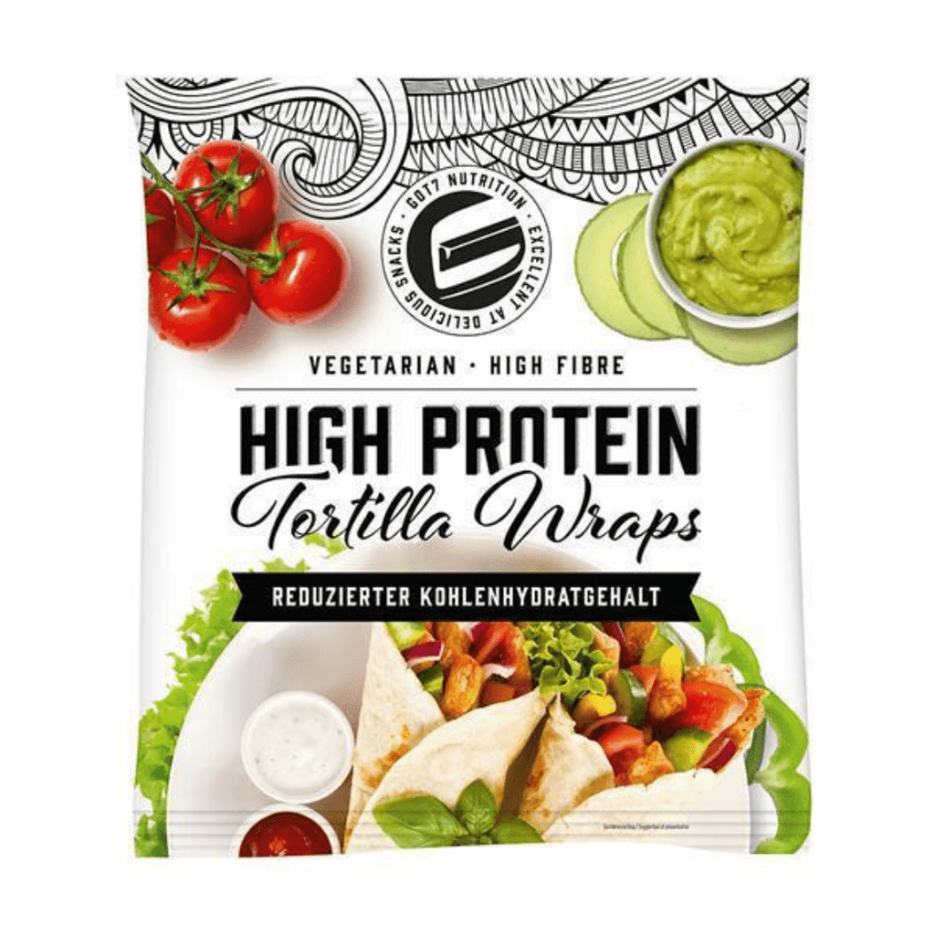 GOT7 Nutrition High Protein Tortilla Wraps (6 Wraps)