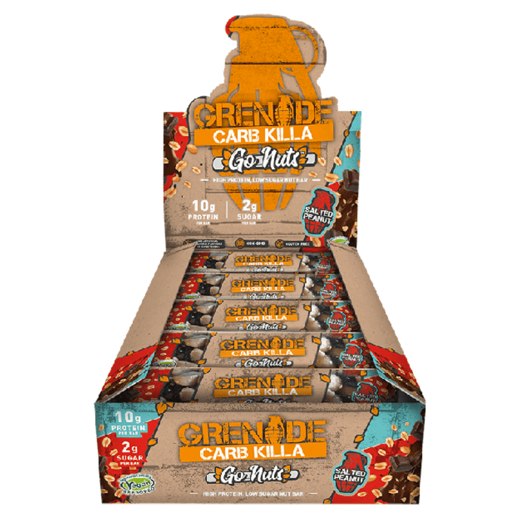 Grenade Carb Killa Go Nuts Vegan Protein Bar Salted Peanut, Protein Bars, Grenade, Protein Package, Pick and Mix Protein UK