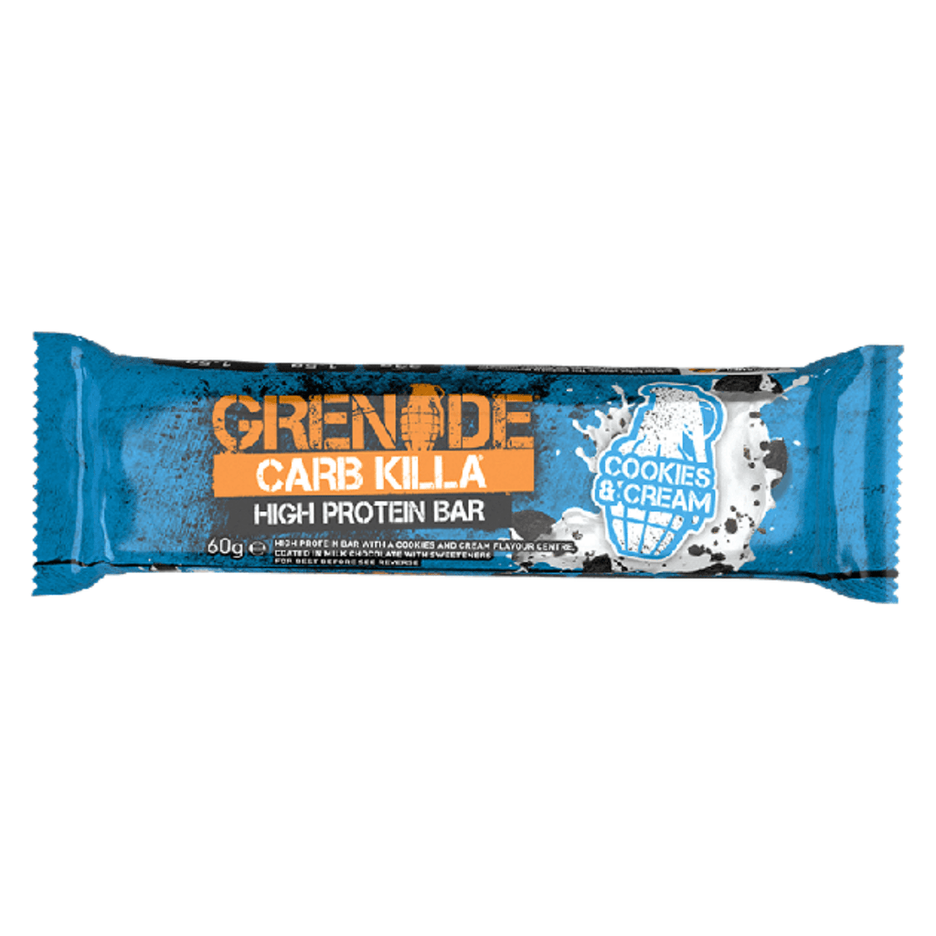 Grenade Carb Killa Protein Bar Cookies & Cream, Protein Bars, Grenade, Protein Package Protein Package Pick and Mix Protein UK